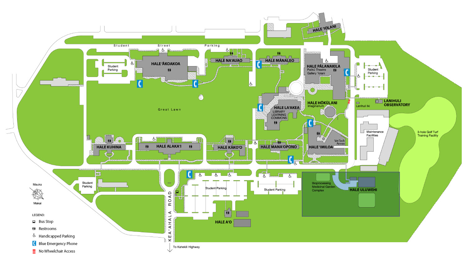 Windward Community College Map